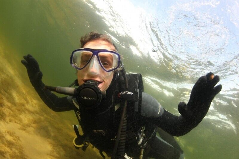 Zapoznawcze nurkowanie w jeziorze Plateliai na Litwie