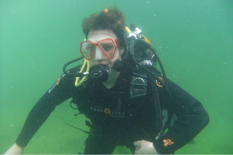 Zapoznawcze nurkowanie z podwodną sesją zdjęciową w Kownie