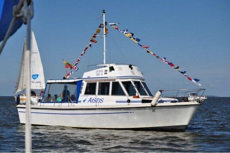 """Romantyczne pływanie statkiem """"Aistis"""" Zalewem Kurońskim na Litwie"""