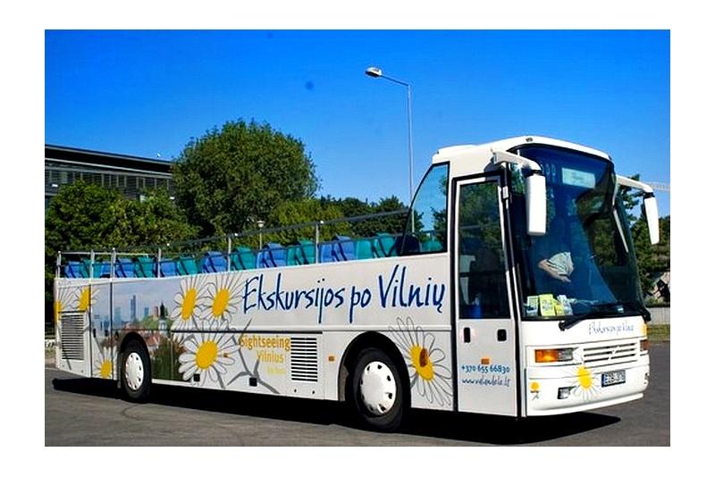 Wycieczka otwartym autobusem w Wilnie dla dwóch osób