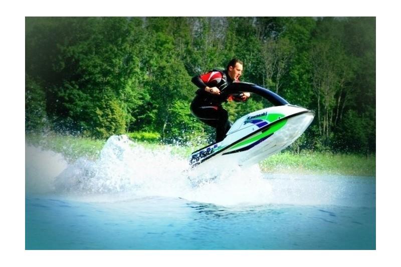 """Pływanie skuterem wodnym """"Kawasaki"""" (30 min.)"""