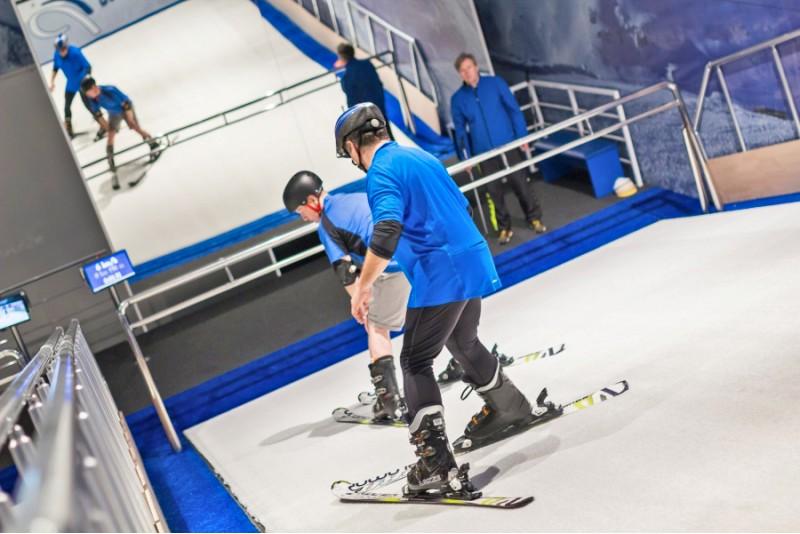 Trening narciarski w Gdańsku