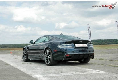 Przejażdżka samochodem Aston Martin DB9 jako pasażer na torze głównym Poznań