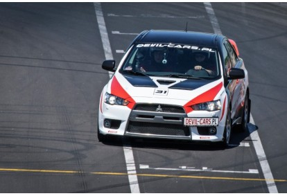 Przejażdżka za kierownicą samochodu Mitsubishi Lancer EVO 10 na torze głównym Poznań