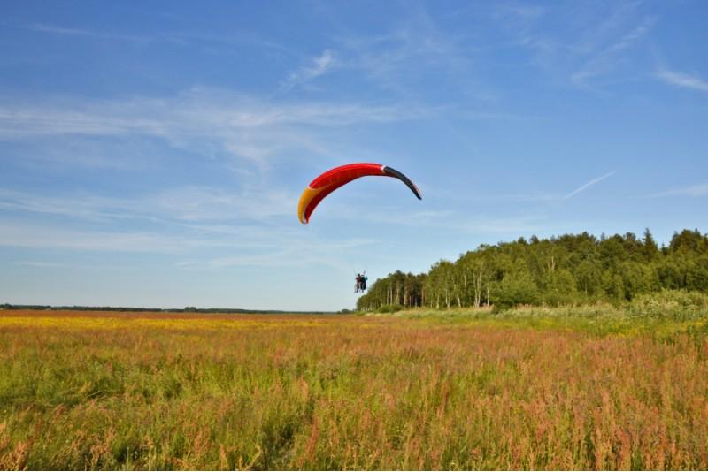 Lot tandemowy widokowy w okolicach Białegostoku