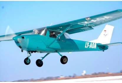 Lot samolotem nad Kownem
