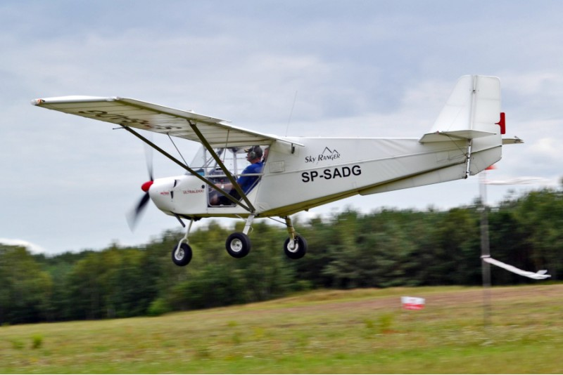 Lot widokowy samolotem ultralekkim w Toruniu