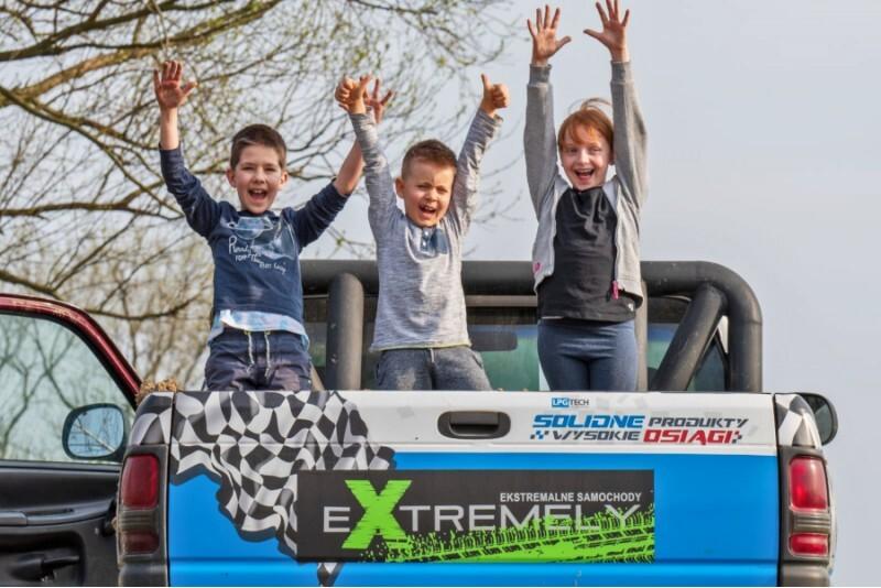 Jazda Monster Truck'iem dla dzieci w Warszawie
