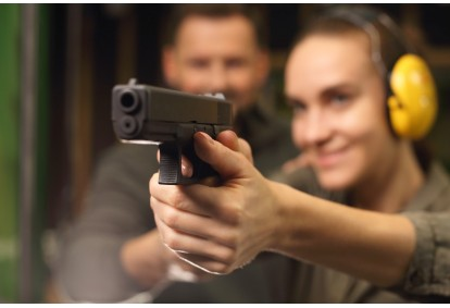 Strzelanie z pistoletów wojskowych w Białymstoku