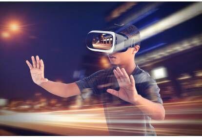 Rodzinna gra wirtualnej rzeczywistości w Gdyni