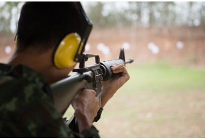 Strzelanie Armia Czerwona w strzelnicy FSO w Warszawie