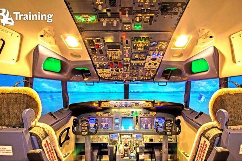 Lot symulatorem Boeing 737 w Wilnie na Litwie