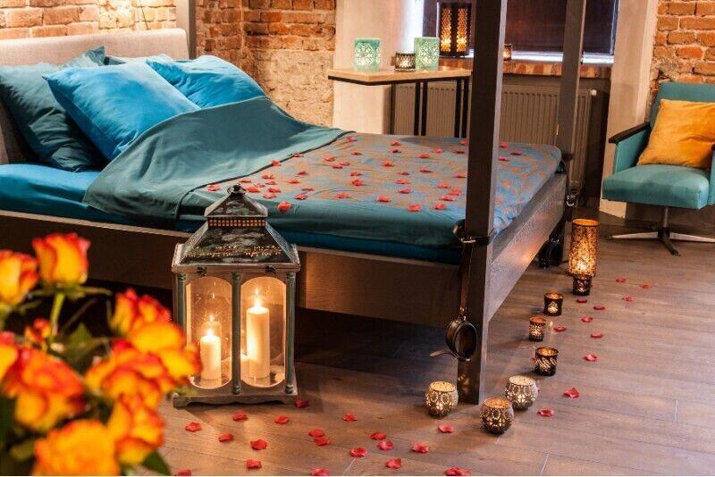 Zmysłowa noc w apartamencie Szampan i Sekrety dla zakochanych