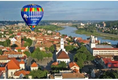 """Skrydis oro balionu virš Kauno su """"Oreivystės centro"""" oreiviais"""