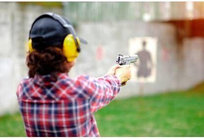 Strzelanie na strzelnicy Con-Tra nieopodal Gorzowa Wielkopolskiego