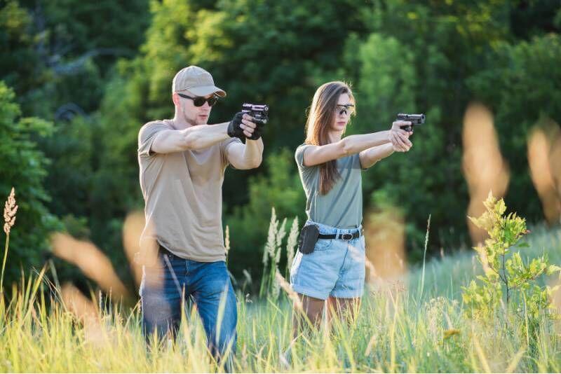 Strzelanie z pakietem Najemnik w Malechowie