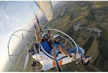 Lot motoparalotnią z Mistrzem Polski