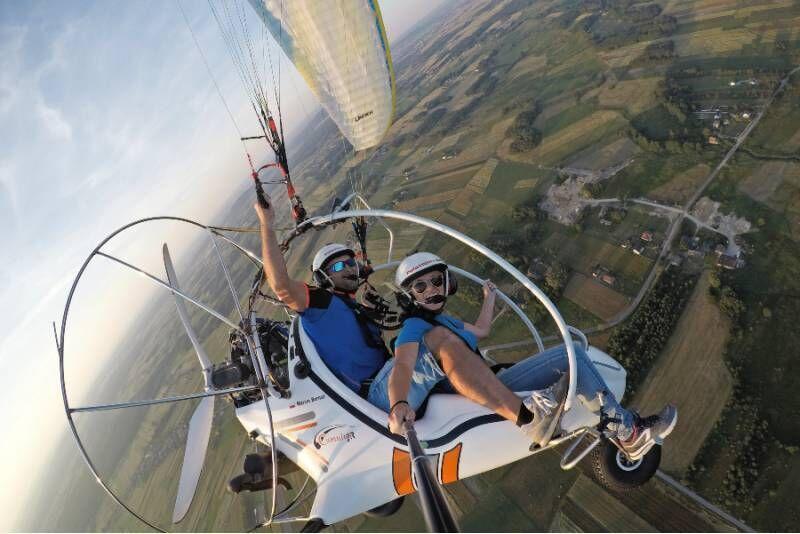 Lot motoparalotnią z Mistrzem Polski + nagranie HD
