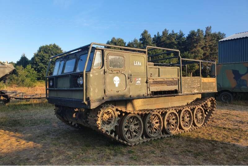 Przejażdżka gąsienicowym ciągnikiem artyleryjskim ATS