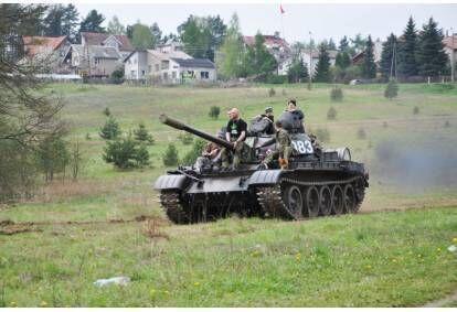 Przejażdżka za sterami czołgu T-55 w Mrągowie