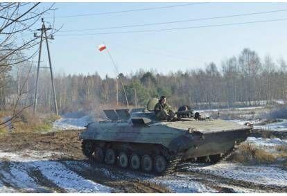 Jazda za sterami Bojowego Wozu Piechoty BWP-1
