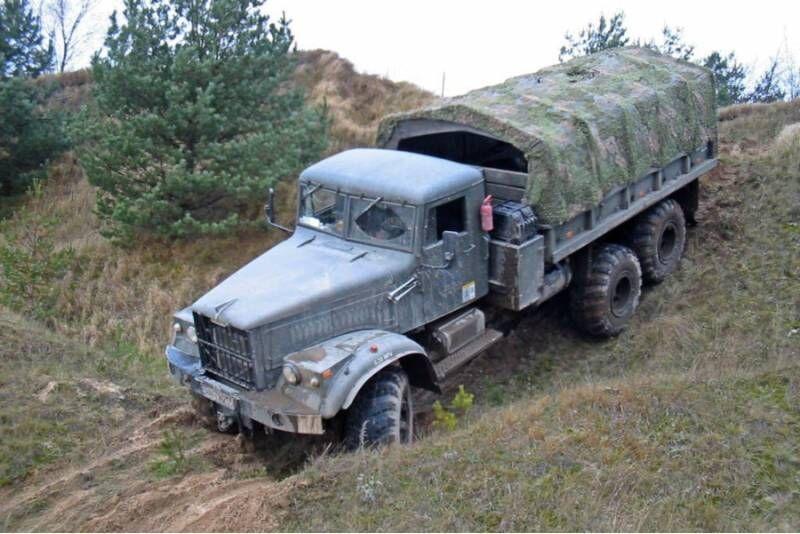 Jazda za kierownicą ciężarówki KRAZ 255B