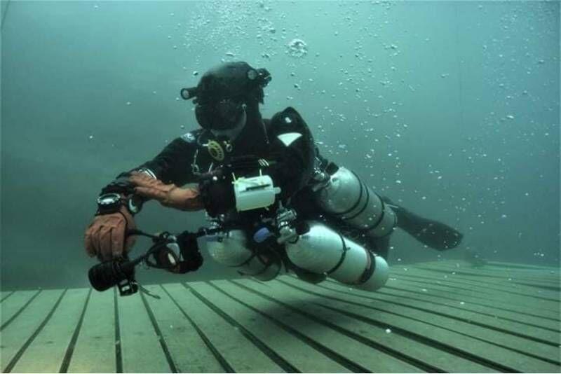 Próbne nurkowanie w Centrum nurkowym Beskid Divers