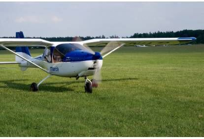 Lot demonstracyjny samolotem ultralekkim w Rybniku