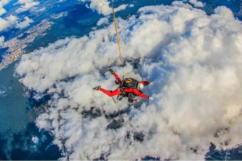 Skok spadochronowy z filmowaniem w Szczecinie