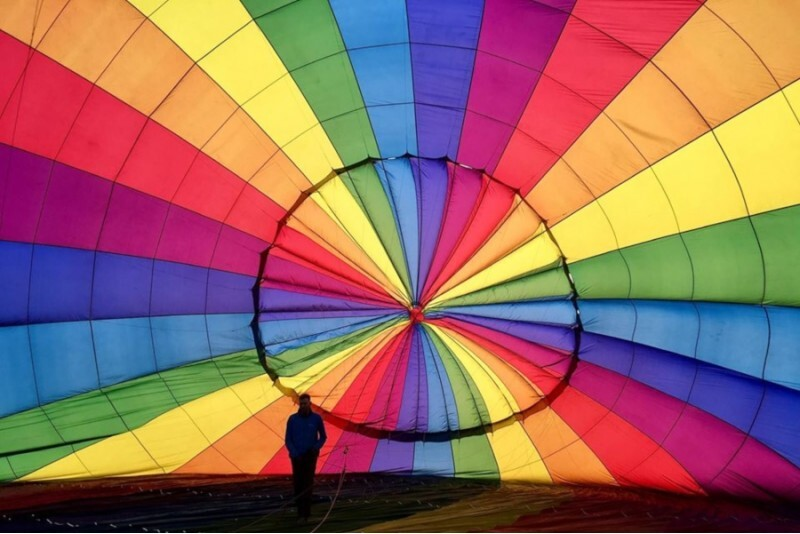 Zaręczynowy lot balonem