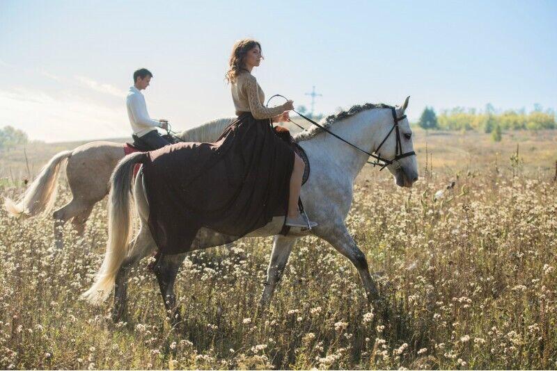 Romantyczna jazda konna w Rzeszy na Litwie